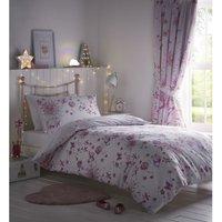 Bedmaker - Portfolio Fairy Princess Pink King Size Duvet Cover Set Childrens Bedroom Quilt Bedding