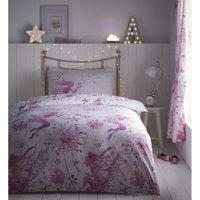 Portfolio Fairy Princess Pink Single Duvet Cover Set Childrens Bedroom Quilt Bedding