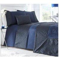 Portfolio Indigo Blue Super King Size Duvet Cover and 2 Pillowcase Bed Set, Polyester-Cotton