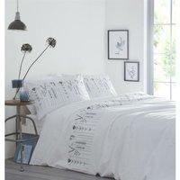 Portfolio Molly Teal/Natural Embroided Floral Super King Size Duvet Cover Set Bedding Quilt - BEDMAKER
