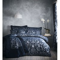 Oak Tree Luxury Duvet Cover Set - Midnight Blue - Double - Portfolio