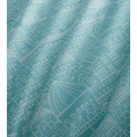 Bedmaker - Portfolio Old Town Turquoise Super King Size Duvet Cover Set Reversible Bedding Bed Set