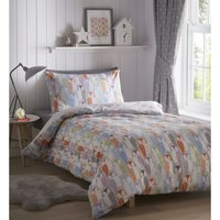 Bedmaker - Portfolio Owls Double Duvet Cover Set Bed Linen Childrens Bedroom