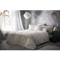 Portfolio Prestige Amara King Size Duvet Cover Set Cream 100% Cotton Bedding - BEDMAKER