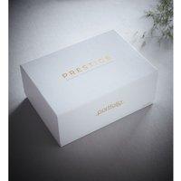 Portfolio Prestige Aspect White Double Duvet Cover Set 100% Cotton Linen Blend Bedding