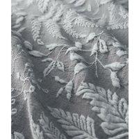 Portfolio Prestige Palazzo Grey Double Duvet Cover Set Cotton Linen Bedding