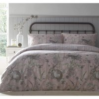 Portfolio Rabbit Meadow Blush Single Duvet Cover Set Reversible Bedding Bed Set - BEDMAKER
