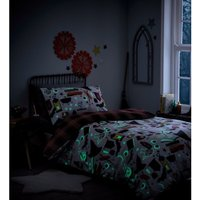 Portfolio Spellbound Glow In The Dark Double Reversible Duvet Cover Set Childrens Bedroom - BEDMAKER