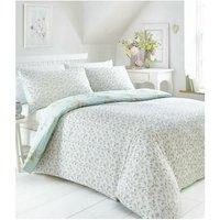 Portfolio Yasmina Duck Egg Double Duvet Cover Set Reversible Bedding Bed Set Linen