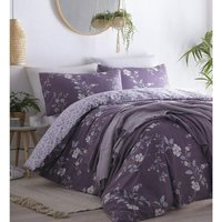 Yasmina Duvet Cover Set Plum Single Bedding - Portfolio