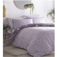 Portfolio Yasmina Plum King Size Duvet Cover Set Reversible Bedding Bed Set Linen