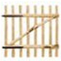 Asupermall - Portillon de cloture simple Bois de noisetier 100 x 100 cm