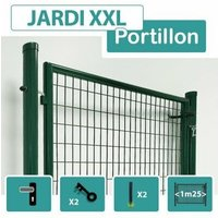 Portillon Jardin Grillagé Vert JARDI XXL - Passage 1m25 - 1 mètre - CLOTURE & JARDIN