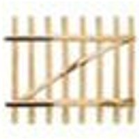 Asupermall - Portillon simple de cloture Bois de noisetier 100 x 90 cm