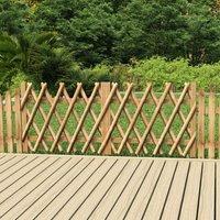 Ilovemono - Portillons de jardin 2 pcs Bois de pin imprégné 300x80 cm