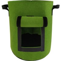 Potato Growing Bag Felt Thickened Planting Grow Pouch Garden Vegetables Planter Containers with Handles and Window,model:Green L