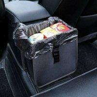 Car trash can, waterproof trash car trash can, waterproof car seat bag for garbage, black
