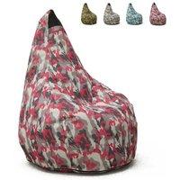 Pouf Fauteuil Pouf sac à Poire pour Extérieur Imperméable Mimétiques Made in Italy Summer Camouflage | Couleur: Pinky - AHD AMAZING HOME DESIGN