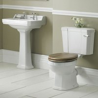 Richmond Traditional Bathroom Suite 595mm Wide - 2 Tap Hole - Nuie