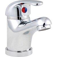 Eon D-Type Mono Basin Mixer Tap with Push Button Waste - Chrome - Nuie