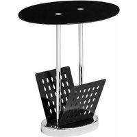 Black Glass Magazine Table - Premier Housewares