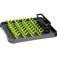 Premier Housewares Grey and Lime Green Dish Drainer