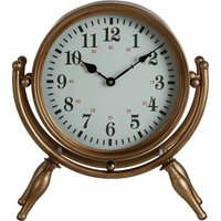 Small Antique Desk Clock / Wireframe Table Clocks Gold Finish Clocks For Living Room Tables / Bedroom / Kitchen Table 15 x 41 x 37 - Premier
