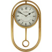 Small Antique Desk Clock With Pendulum / Wireframe Table Clocks Gold Finish Clocks For Living Room Tables / Bedroom / Kitchen Table 12 x 52 x 30