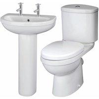 Ivo Bathroom Suite 2 Tap Hole - Nuie