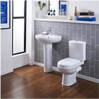 Ivo Contemporary Bathroom Suite With 550mm Basin And Toilet - Premier