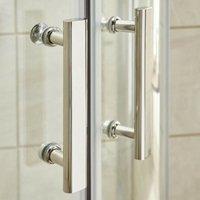 ICE 1200 x 900mm Chrome Offset Quadrant Shower Enclosure - Enclosure Only - size 1200 x 900mm - color Chrome
