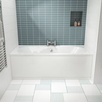 Otley Double Ended Rectangular Bath 1700mm x 700mm - Acrylic - Nuie