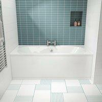 Otley Double Ended Rectangular Bath 1700mm x 750mm - Acrylic - Nuie