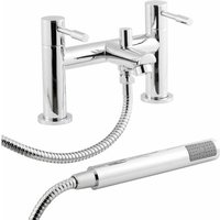 Nuie Series 2 Bath Shower Mixer Tap Deck Mounted - Chrome