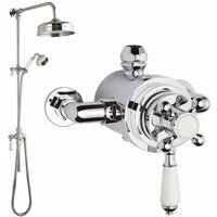 Nuie Traditional Dual Exposed Mixer Shower with Fixed Head