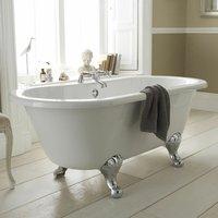 Grosvenor Freestanding Bath, 1700mm x 745mm, Corbel Leg Set - Hudson Reed