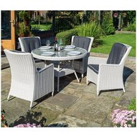 Prestbury Contemporary Rattan Four Seater Dining Set
