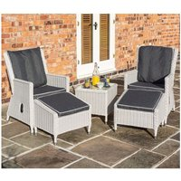 Rowlinson Garden Products - Prestbury Contemporary Rattan Lounger Set