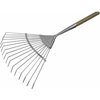 FAIPRESLRSS Prestige Stainless Steel Lawn Rake Ash Handle - Faithfull