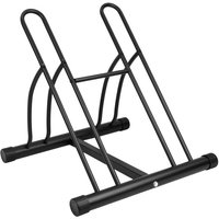 PrimeMatik - Bike stand parking rack floor Bicycle storage Locking stand for 2 cycles