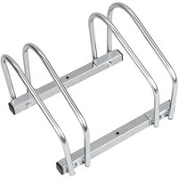 PrimeMatik - Bike stand parking rack floor or wall mount Bicycle storage Locking stand for 2 cycles