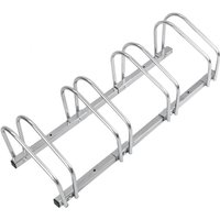 PrimeMatik - Bike stand parking rack floor or wall mount Bicycle storage Locking stand for 4 cycles