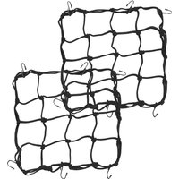 PrimeMatik - Elastic fixing net for bike and motorcycle. Grid luggage carrier 2-pack