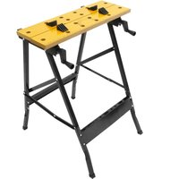 Work bench with adjustable clamps. Folding portable workmate table for DIY. 100 Kg - Primematik