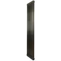 Premium Raw Metal Lacquer Vertical 2 Column Radiator 1800mm
