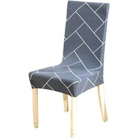 Printed Chair Cover Soft Milk Silk Home Seat Protector Stretch Anti Dust,model:Grey 1