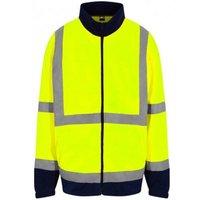 Mens High-Vis Fleece Jacket (4XL) (Yellow/Navy) - Pro Rtx