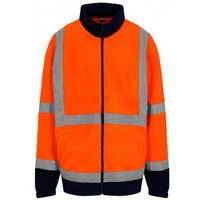 PRO RTX Mens High-Vis Fleece Jacket (XL) (Orange/Navy)