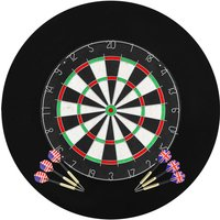 Professional Dart Set with Dartboard and Surround Sisal Steel - YOUTHUP