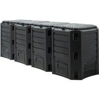 Composter Garden Bin 380L 800L 1200L 1600L Waste Converter Black Composting Unit 1600 L